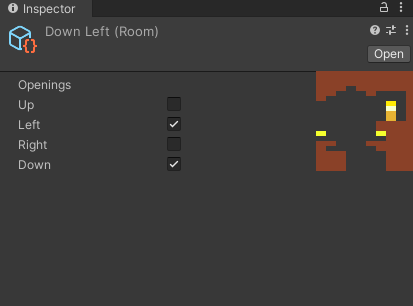 When selecting a room file, a thumbnail of the room is shown
